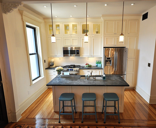 How To Decorate Series Day 23 Making A Kitchen Feel Larger By Brooklyn Limestone Home