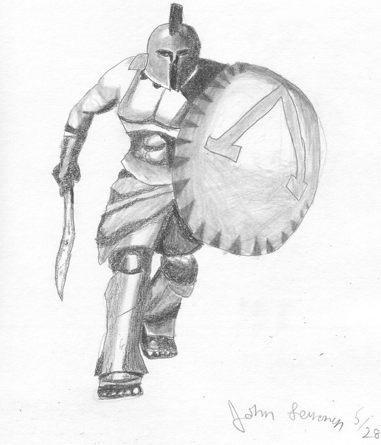 Free coloring pages of sparta 300