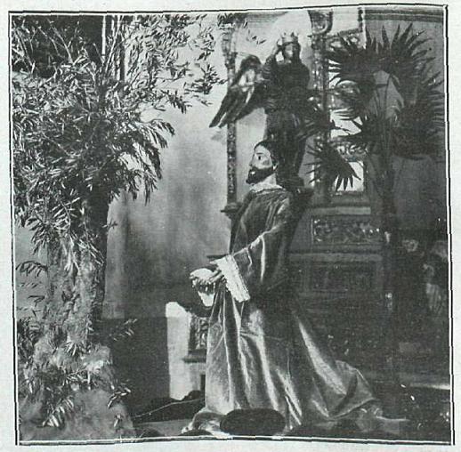 1924. La Oración en el huerto. Paso destruido en 1936. Foto Fraile