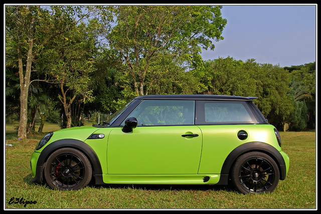 mini cooper s r56 lime green flickr photo sharing. Black Bedroom Furniture Sets. Home Design Ideas