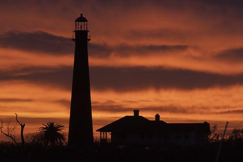 sunset galveston bay dusk tx globalvillage 5photosaday bolivarlighthouse