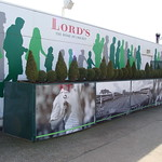 Cricket display outside Lord