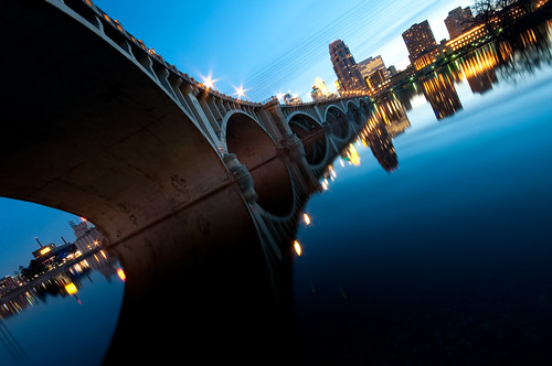 nightphotography sunset water minnesota river photography midwest nightlights minneapolis mississippiriver twincities mn urbanskyline downtownminneapolis guthrietheater 3rdavebridge explore105 carbonsilver minneapolisphoto carylylebuilding