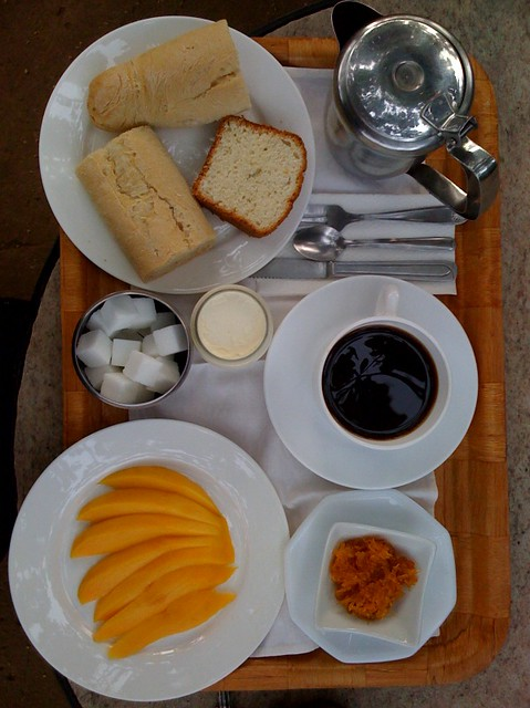 Benin: best brekkie ever, Hotel Burgougne, Naititingou.
