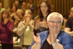 Standing Ovations nach der Rede von Rita Süßmuth