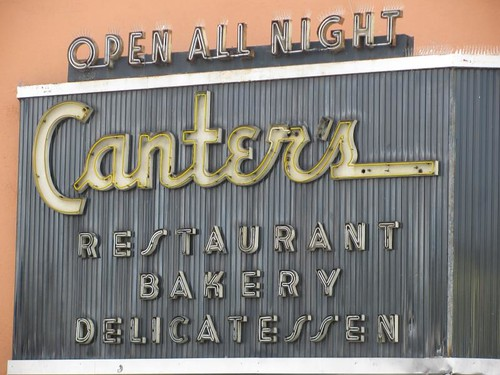 canter's deli sign