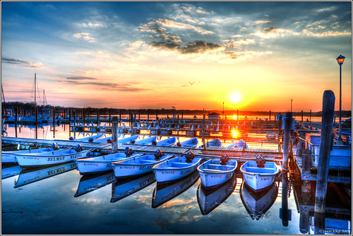 sunset reflections river shark boat sail hdr belmarnj photomatix platinumphoto nikond90 jasonicker jasonickercom