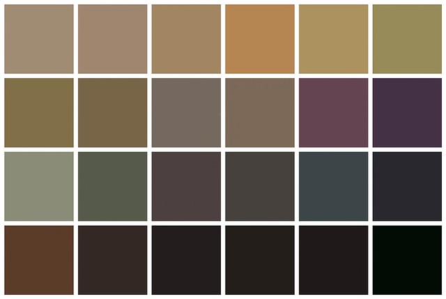 Farrow & Ball Paint: Mid-tone Neutral Colors and Darks | Flickr ...