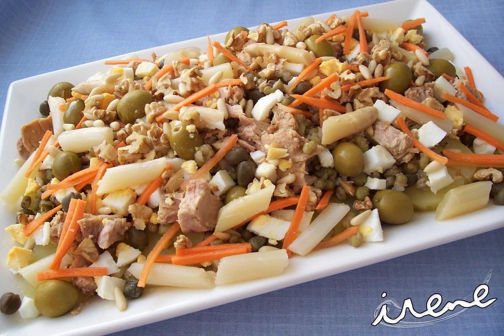 La cocina casera de irene ensalada de patata y lentejas de soja - Lentejas con costillas y patatas ...
