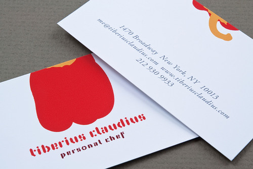 Graphic Personal Chef Business Card