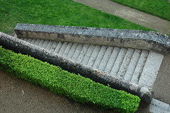 asphalt, shrub, wall, grass, green, landscaping, hedge, lawn, road surface, walkway,