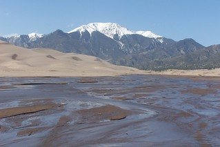 Medano Creek, Mount Herard, and the Great Sand Dunes