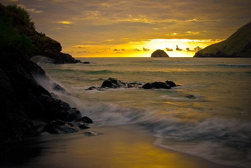 sunset sun beach golden rocks waves jay pentax cove fp frontpage anawangin worldwidelandscapes