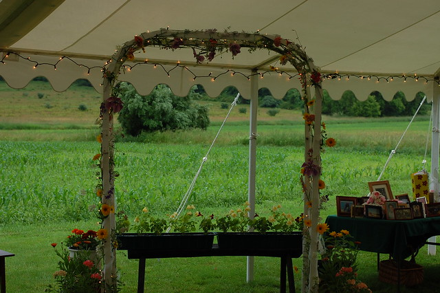 wedding trellis wedding at the Hedden Farm
