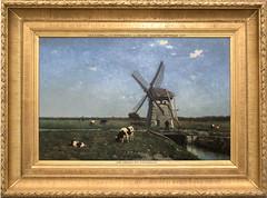 Museum Boijmans van Beuningen - schilderij met molen, Jan Hendrik Weissenbruch