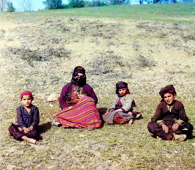 Kurdish women with children. (Artvine)
