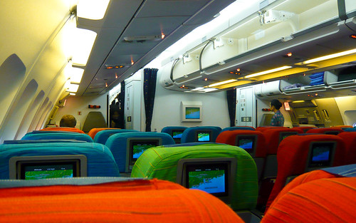Malaysia Airlines A330 interior