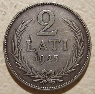 REPUBLIC OF LATVIA ---2 LATI 1925 a