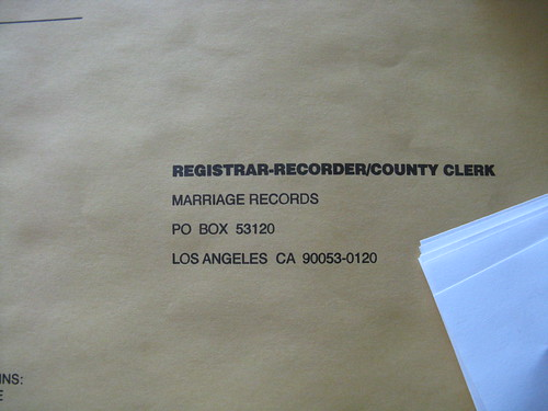 marriage records california