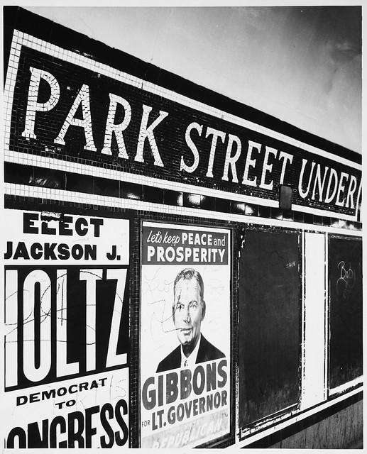 Park Street Under - Sign Set in Tile, Park Street Subway Station, Interior