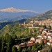 Taormina and Mt. Etna in Sicily