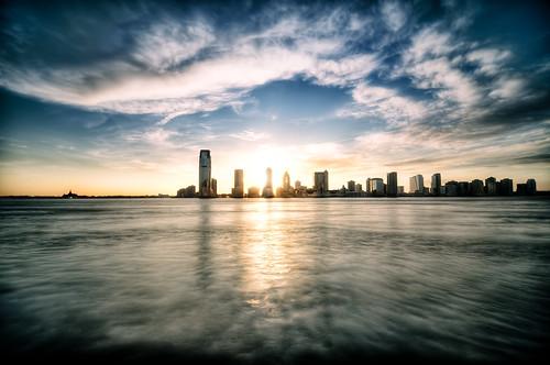 nyc newyorkcity sunset cloud geotagged newjersey jerseycity hudsonriver hdr mudpig stevekelley