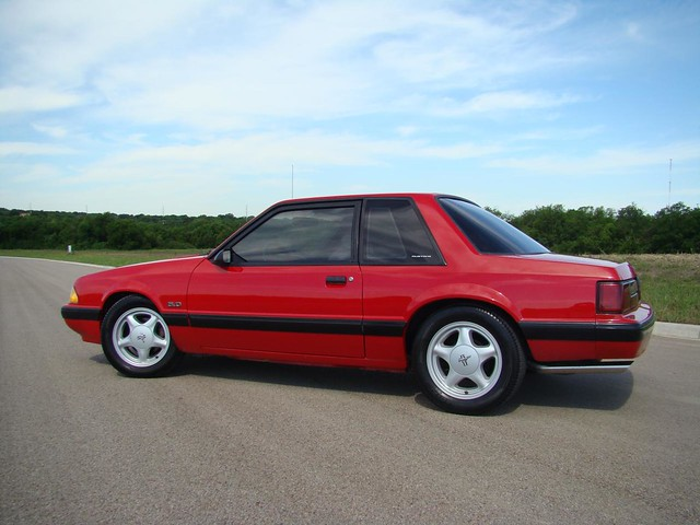 2007 Mustang >> 1991 Ford Mustang Fox Body Coupe with Silver Pony Wheels | Flickr - Photo Sharing!
