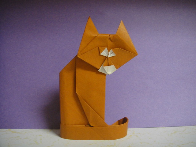 Origami Cat (Design by Gilad Aharoni)