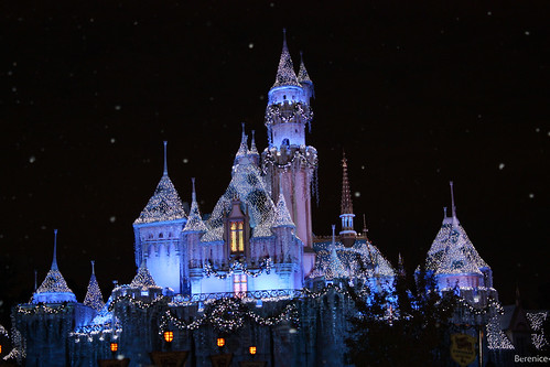 Disneyland winter castle