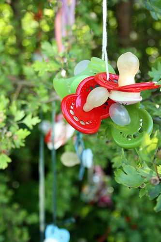 Pacifiers in the tree