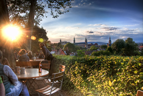 One Evening in the Biergarten