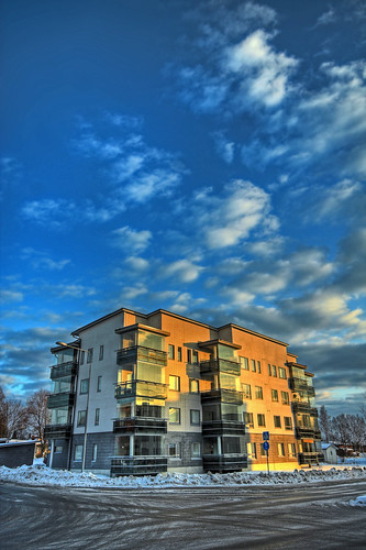 morning winter sky snow reflection building architecture clouds sunrise finland landscape geotagged hdr mäntsälä tonemapped tonemap 3exp handheldhdr cumulushumilis