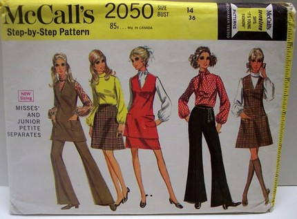 Vintage Dress on Mccalls 2050 Vintage 60 S Pattern Mod Tunic Jumper Dress Pant And