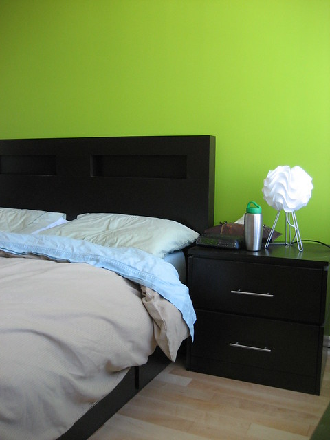 Our lime green wall in our bedroom our main bedroom we - Lime green walls in bedroom ...