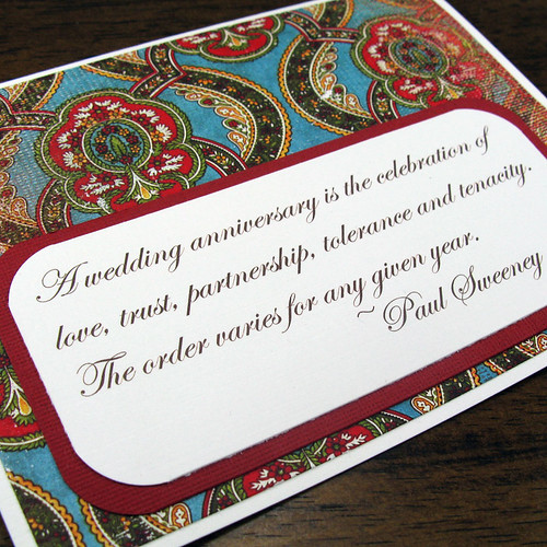Love and Tenacity -- Gorgeous and Candid Card for an Anniversary Celebration