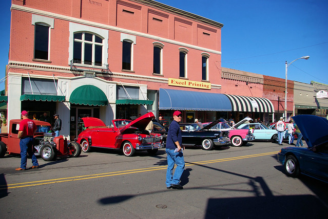 Antique Cars, Downtown Fall Festival, Russellville, Arkansas, October 25, 2008