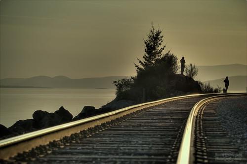 sunset geotagged washington track state rail railway shore hdr phototrip chuckanutdrive janusz leszczynski 2642 ontherighttrack scagitvalley youcanwaittillmorningcomes peopleonthetracks geo:lat=48625243 geo:lon=122460115