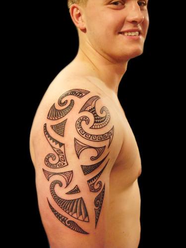 South pacific/polynesian tribal tattoo