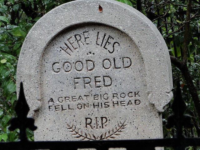 Scary Tombstone Sayings http://www.flickr.com/photos/41564535@N00/3568931379/