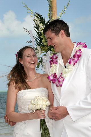 Tropical Beach Wedding Dress Hawaii Happy Couple At Their Flickr