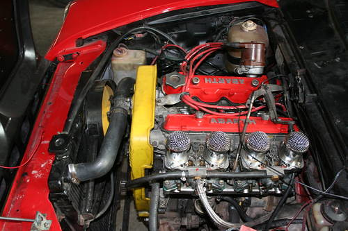 Fiat 124 spider abarth engine flickr photo sharing for Fiat 124 spider motor
