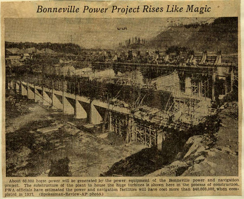 Bonneville dam construction 1935 07 05 flickr photo for Construction bonneville