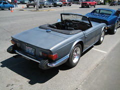 automobile, vehicle, performance car, antique car, classic car, vintage car, land vehicle, luxury vehicle, triumph tr6, convertible, supercar, sports car,