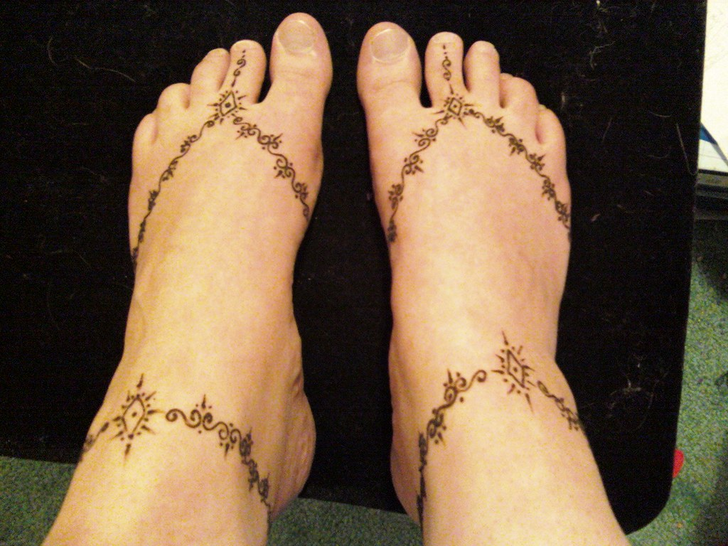Mehndi For Ankle : Anklets mehndi styles henna ankle tattoo designs new clothes