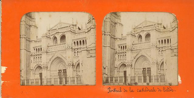 Fotografía estereoscópica de Toledo. Catedral hacia 1860 por Ernest Lamy