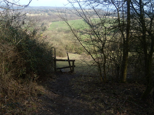 View down the hill