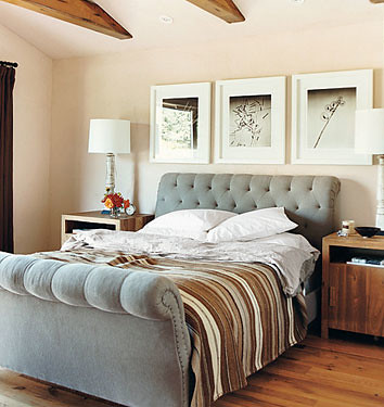 Eco-chic: Adrian Grenier's laid-back L.A. bedroom