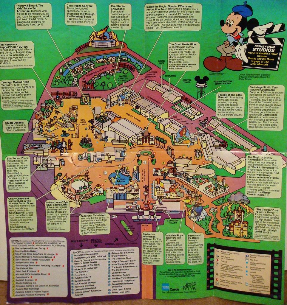 Disney-MGM Studios Tribute: Interactive Park Map 1994 | Flickr