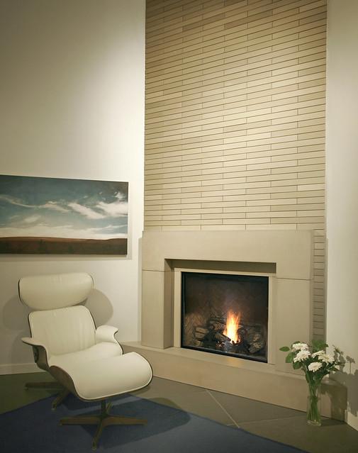 Block linen cast concrete fireplace mantel flickr for Blocked fireplace ideas