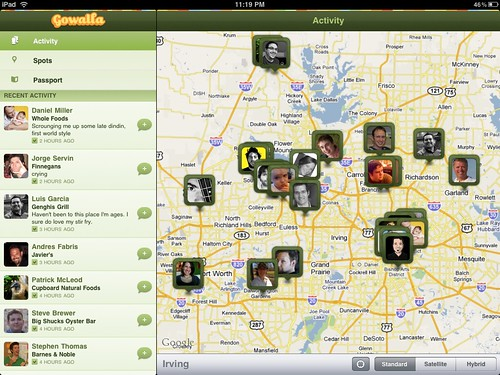 Gowalla on the iPad - hello everyone!